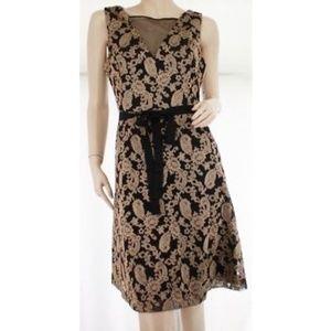 Jessica Simpson Black and Metallic Cocktail Dress